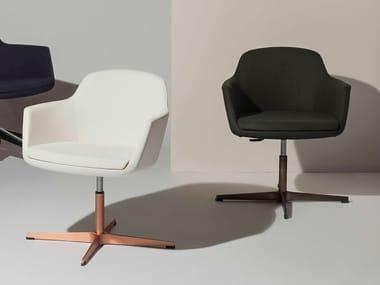 Sedia ufficio girevole con braccioli ad altezza regolabile VOGUE | Sedia ufficio in tessuto