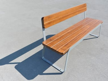 Steel and wood Bench VOLEE