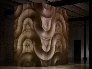 Modular wooden 3D Wall Panel VOLGA CORNER