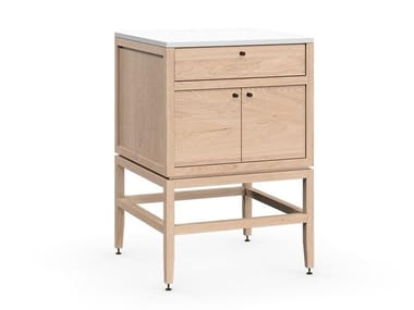 Sectional wooden vanity unit VOLITARE | Sectional vanity unit