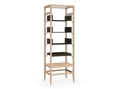 Modular wooden bookcase VOLITARE | Solid wood bookcase