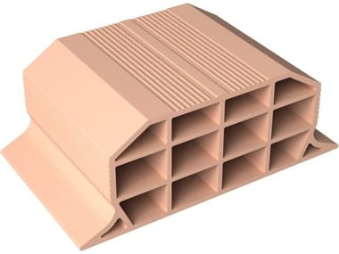 Slab clay block VOLTERRANE H16X40