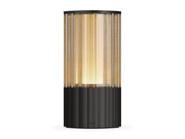 Lampada da tavolo in metallo senza fili VOLTRA REEDED ANTIQUE BRONZE