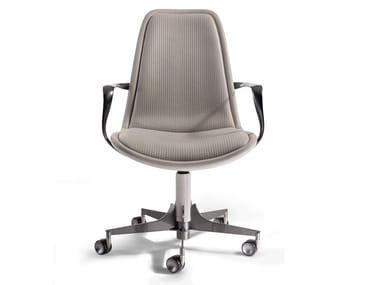 Task chair with armrests with castors VOLVER