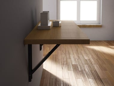Wall mounted drop-leaf wooden table VULCANO