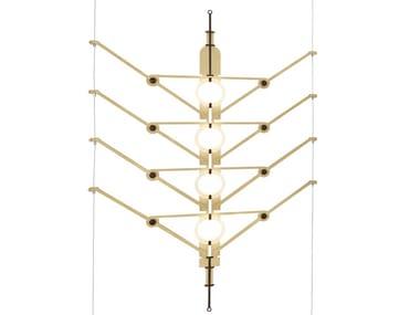 Lampada a sospensione a LED in alluminio anodizzato VVV | Lampada a sospensione