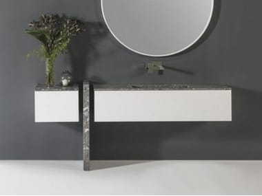 Single wall-mounted marble vanity unit Vanity unit