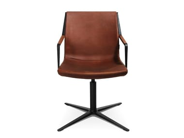 Swivel easy chair with 4-spoke base W-CUBE 3