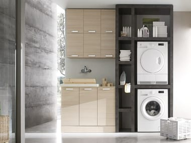 Mobile lavanderia componibile W&D - COMPOSIZIONE 3