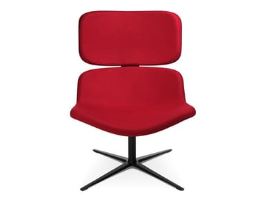 Swivel easy chair with 4-spoke base W-LOUNGE CHAIR 3