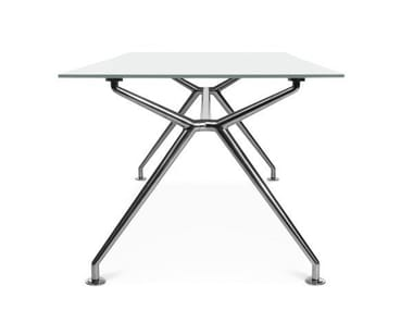 Rectangular meeting table W-TABLE | Meeting table