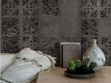 Stone effect nonwoven wallpaper WALL&DECÒ - IMPRINTING TS