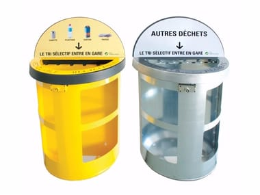 Litter bin for waste sorting WALL | Litter bin
