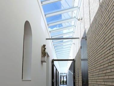 Finestra da tetto in acciaio e vetro WALL-MOUNTED LONGLIGHT 5-45°
