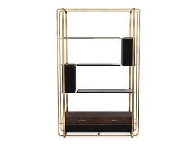 Open brass bookcase WALTZ | Bookcase