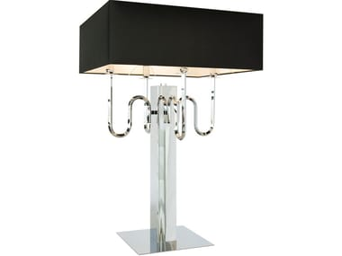 Contemporary style direct-indirect light metal table lamp with fixed arm WALTZ OF VIENNA T4