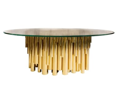 Oval glass dining table WANDERLUST | Oval table