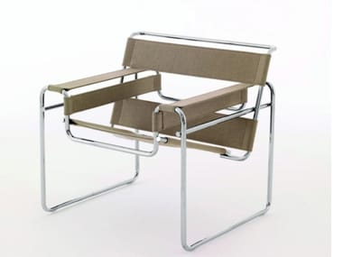 Canvas easy chair with armrests WASSILY CHAIR
