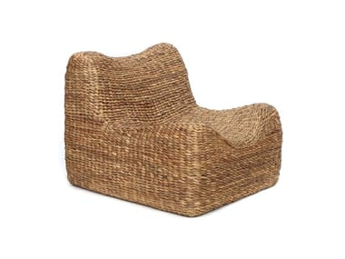 Natural fibre armchair WATERHYACINTH | Armchair