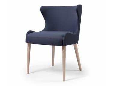 Cadeira estofada de tecido WAVE CB