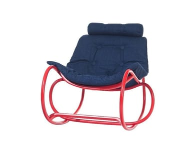 Rocking fabric chair WAVE   Fabric chair
