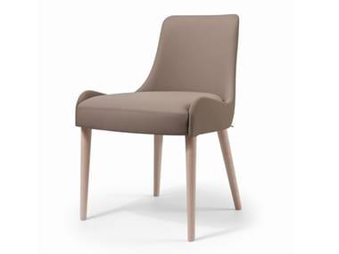 Cadeira estofada de tecido WAVE