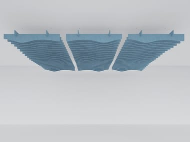 Recycled plastic acoustic baffles WAVE