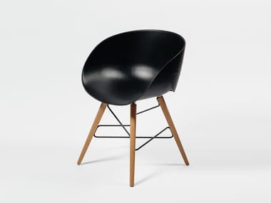 Plastic chair with armrests WAVE | Chair