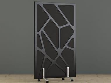Sound absorbing free standing workstation screen WEBB