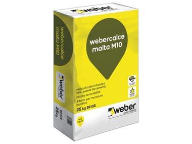 Malta fibrata di calce idraulica naturale WEBERCALCE MALTA M10
