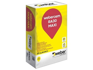 Rasante cementizio fibrato ad elevata adesione WEBERCEM RA30 MAXI