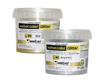 Glitter colorati metallizzati per l'additivazione WEBERCOLOR GLITTER