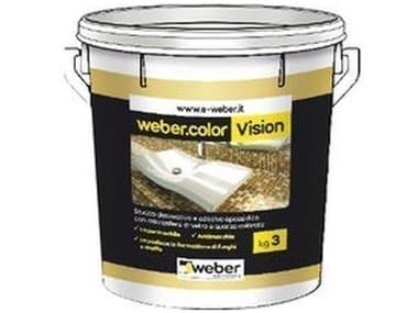 Stucco decorativo e adesivo epossidico con microsfere di vetro e quarzo colorato WEBERCOLOR VISION