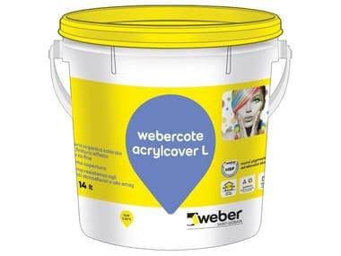 Pittura organica colorata al quarzo WEBERCOTE ACRYLCOVER L