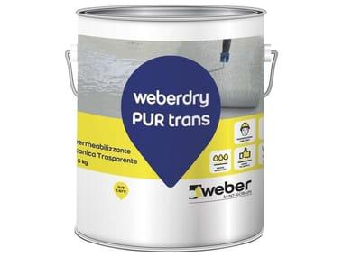 Membrana poliuretanica trasparente resistente ai raggi UV WEBERDRY PUR TRANS