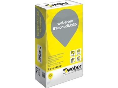 Betoncino per applicazione meccanizzata fibrato WEBERTEC BT CONSOLIDA35