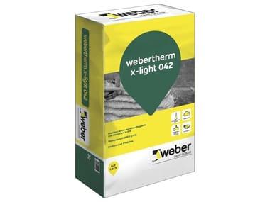 Intonaco termo-acustico alleggerito con microsfere di EPS WEBERTHERM X-LIGHT 042