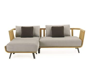Sofá de jardín composable de teca WELCOME | Sofá de jardín composable