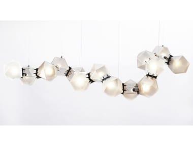 LED blown glass pendant lamp WELLES GLASS | Pendant lamp