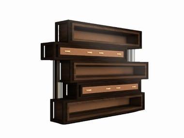 Walnut bookcase WELLS