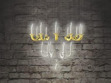 Lampada a sospensione a LED fatta a mano con dimmer WERSAILLES OR