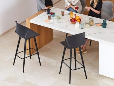 Office stool with footrest WHASS | High stool