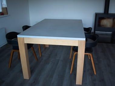 Tavolino da caffè rettangolare in calcestruzzo WHELP