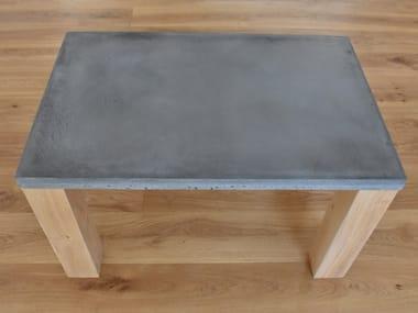 Rectangular concrete coffee table WHELP