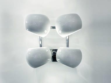 LED handmade porcelain wall lamp WHITE MOONS 2 x 2