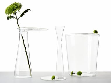 Vaso in vetro borosilicato WHITE SHADOW