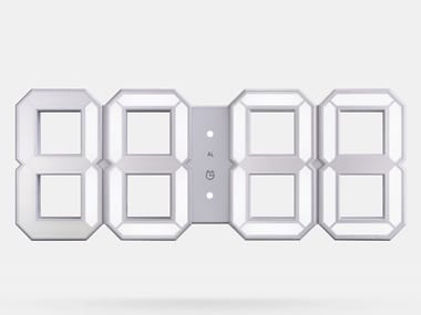 Wall-mounted / table-top ABS clock WHITE & WHITE LED CLOCK