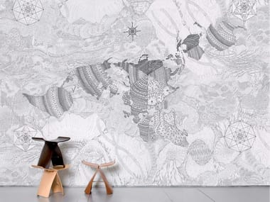 Non-woven paper wallpaper WHOLEARTH