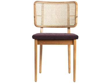 Vintage style wicker chair with integrated cushion WICKER | Chair