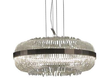 Lampada a sospensione in vetro di Murano WICKER